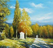 Calvary in Autumn color  by Roman Burgan