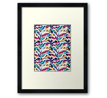 colorful pattern with leaves  Framed Print