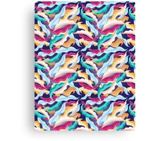 colorful pattern with leaves  Canvas Print