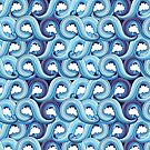 abstract pattern with waves  by Tanor