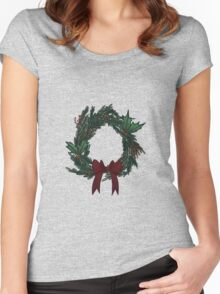 Wreath Women's Fitted Scoop T-Shirt