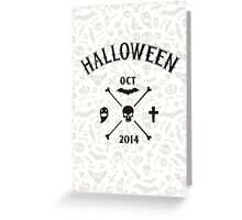 Light Halloween Background Greeting Card