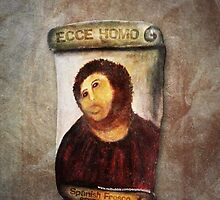 ECCE HOMO Spanish Fresco Restoration by labelia