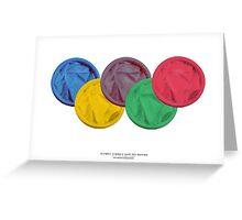 OLYMPICS SAFE SEX EDITION Greeting Card