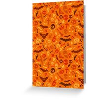 Halloween Orange Pattern Greeting Card