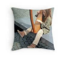 Playing Bach Throw Pillow