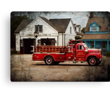 Fireman - Newark fire company Canvas Print