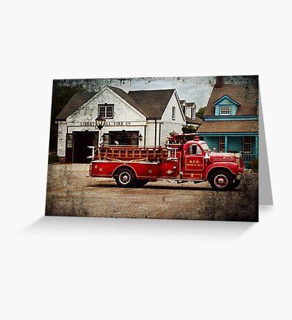 Fireman - Newark fire company Greeting Card