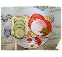 Open Salad Sandwich Poster