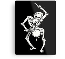 Zombie Undead Skeleton Marching and Beating A Drum Metal Print