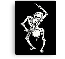 Zombie Undead Skeleton Marching and Beating A Drum Canvas Print