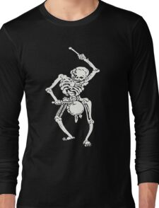 Zombie Undead Skeleton Marching and Beating A Drum Long Sleeve T-Shirt