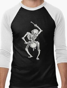 Zombie Undead Skeleton Marching and Beating A Drum Men's Baseball ¾ T-Shirt