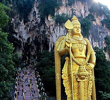 The Caves Climb - Batu Caves, Malaysia. by Tiffany Lenoir
