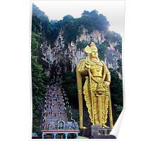 The Caves Climb - Batu Caves, Malaysia. Poster