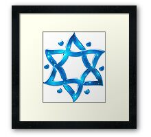 Star of David, ✡, Hexagram, Israel, Judaism, Space Framed Print