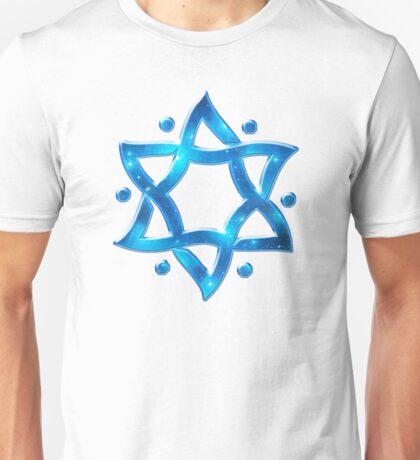 Star of David, ✡, Hexagram, Israel, Judaism, Space Unisex T-Shirt