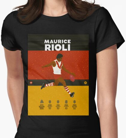 Maurice Rioli - South Fremantle Womens Fitted T-Shirt