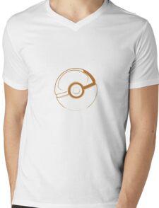 Pokémon, Pokéball gold Mens V-Neck T-Shirt