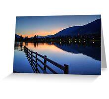 Uttendorfer See, Salzburg Austria Greeting Card