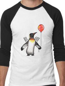 Too Cool Penguin  Men's Baseball ¾ T-Shirt