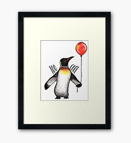 Too Cool Penguin  Framed Print