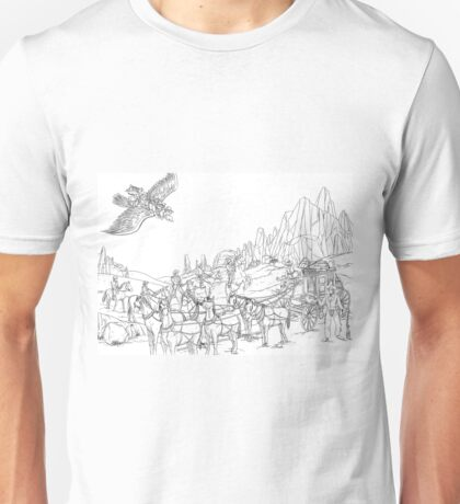 Stagecoach Robbery Unisex T-Shirt