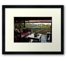 Terrace on the Nature - Kuala Lumpur, Malaysia. Framed Print