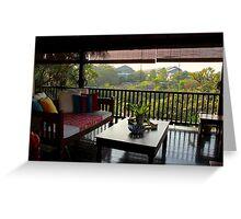 Terrace on the Nature - Kuala Lumpur, Malaysia. Greeting Card