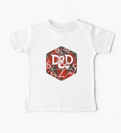 Hand Painted Watercolor DnD D20 Baby Tee