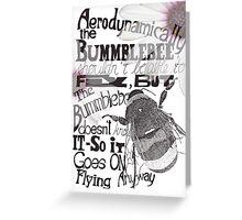 The Bumblebee Greeting Card