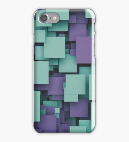 Square Party Purple Pattern iPhone Case/Skin