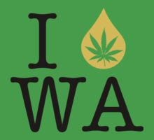 I Dab WA (Washington) Weed by LaCaDesigns