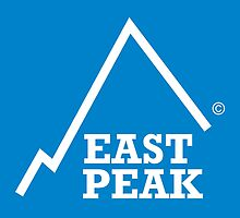 East Peak Apparel - Blue Square Large Logo by springwoodbooks