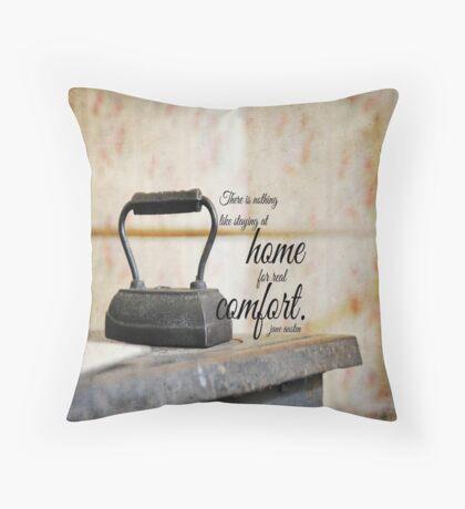 Jane Austen Home Throw Pillow