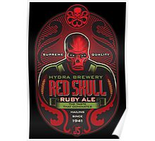 Red Skull Ruby Ale Poster