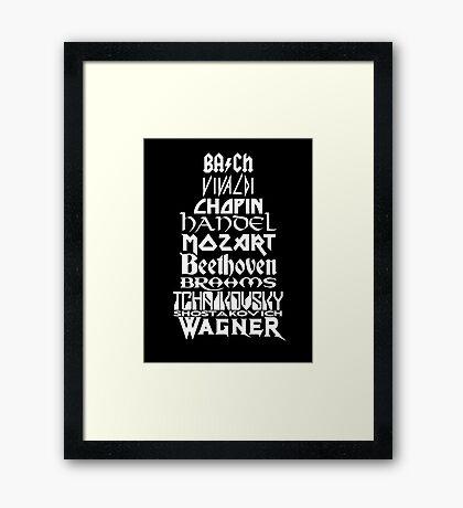 Composers Framed Print