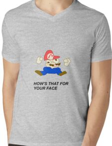 HOW'S THAT FOR YOUR FACE  Mens V-Neck T-Shirt