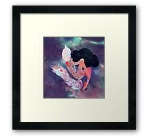 Universe Girl Framed Print