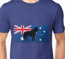 ACD silhouette on flag Unisex T-Shirt