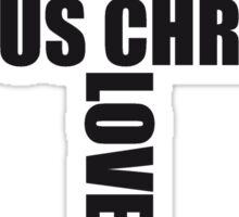 3 kreuze cool pixel gamer retro 8 bit muster christ logo design schriftzug jesus christus  Sticker