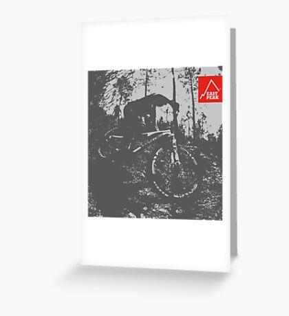 East Peak Apparel - Mountain Bike Greeting Card