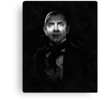 Bela Lugosi dracula - black and white digital painting Canvas Print