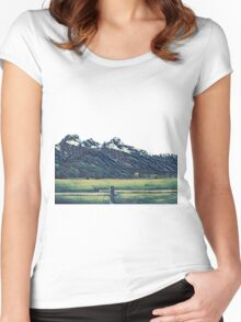Grand Teton Mountains Women's Fitted Scoop T-Shirt