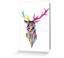 Geometric Stag Design Greeting Card