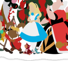 Alice in Wonderland inspired design. Sticker