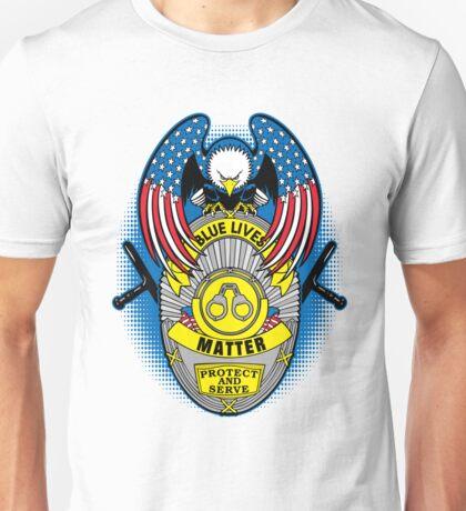 Blue Lives Matter Protect and Serve USA Eagle Unisex T-Shirt