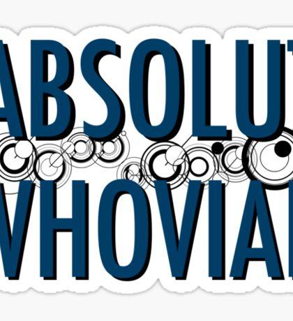 Absolut Whovian Sticker