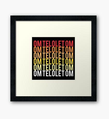Om Telolet Om Framed Print