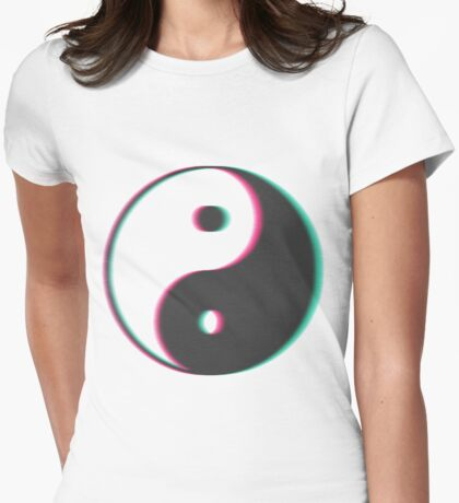 YinYang Transparent Tumblr Style Womens Fitted T-Shirt